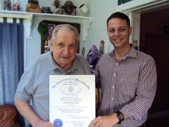 Fred Magdaleski (left) with State Representative Jim Arciero