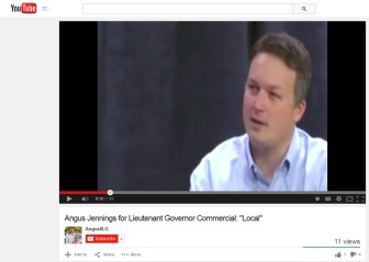 A screenshot of Jennings' Youtube video.