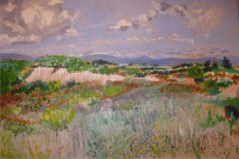 """The Garrigue Boutenac Alice Phalen Acrylic On Canvas"" (by Alice Phalen)"