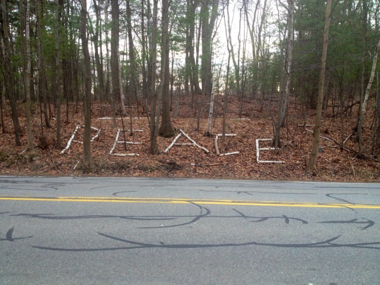 Tadmuck Road near I-495 in late December 2014 (credit: Cori Ryan)