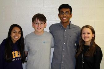 (l to r) Thea Lacerte, Jack Leeber, Karun Kannan and Maddie Seraphin (courtesy photo)