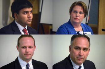 (l to r clockwise) Pranav Mulpur, Avery Adam, Terence Ryan, Chris Sanders