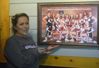 Westford Academy Cheerleading Coach Tamara Hayes with the portrait