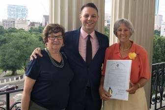 (l to r) Marilyn Frank, State Representative James Arciero, Ellen Harde (courtesy - Office of State Representative James Arciero)