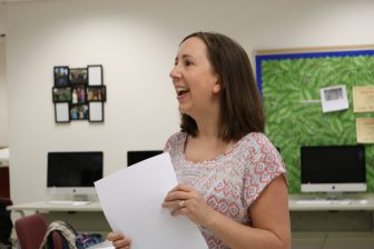 Westford Academy English teacher Janet Fonden. Fonden is an advisor for the WA Ghostwriter. PHOTO BY JOYCE PELLINO CRANE