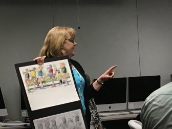 Abbot School Reading Specialist Nancy Feehrer co-authored a children's book with Boston Marathon Director Dave McGillivray. PHOTO BY ANTHONY CAMMALLERI